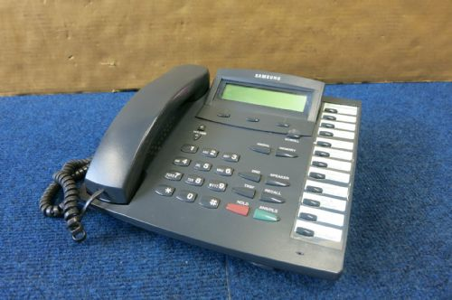 Samsung KPDCS-12B LCD 12 Button Desk Business Telephone KPDCS 12B Charcoal Grey